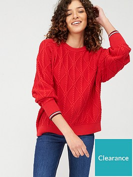 tommy-hilfiger-essential-knot-sweater-red