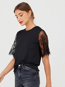 v-by-very-lace-sleeve-top-black