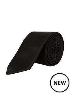 burton-menswear-london-burton-plain-tie-black