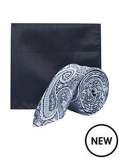 burton-menswear-london-burton-tie-and-pocket-square-set--nbspnavy