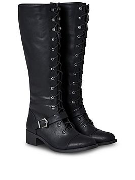 joe-browns-sweet-talkin-lace-up-tall-boots-black