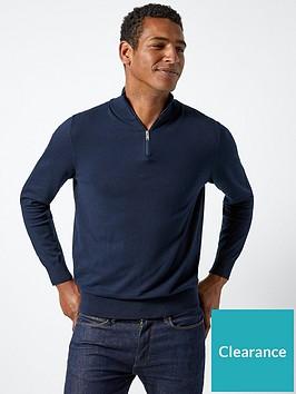 burton-menswear-london-burton-half-zip-knit-navy