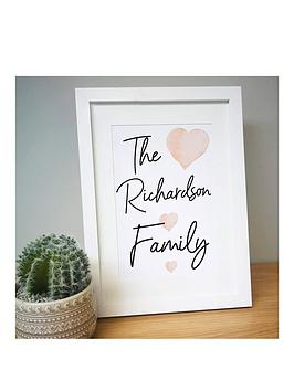 personalised-family-a4-framed-print