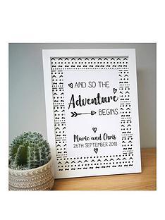 personalised-adventure-begins-a4-framed-print
