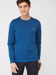 lyle-scott-golf-tech-crew-midlayer-top-navy