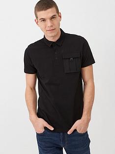 v-by-very-utility-pocket-polo-shirt-black