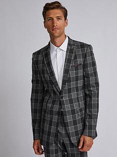 burton-menswear-london-burton-large-scale-tartan-slim-suit-jacket-grey