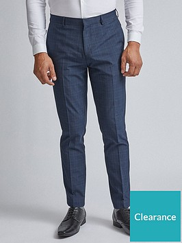 burton-menswear-london-burton-fine-check-trousers-blue