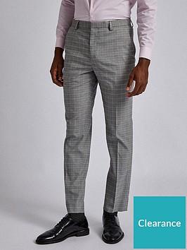 burton-menswear-london-burton-mini-check-trousers-grey