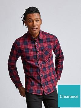burton-menswear-london-burton-long-sleeve-check-oxford-shirt-burgundy