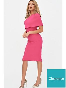 lavish-alice-one-shoulder-cape-dress-pink