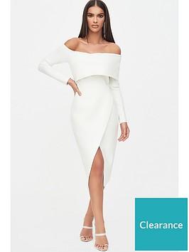 lavish-alice-bandage-shoulder-wrap-dress-white