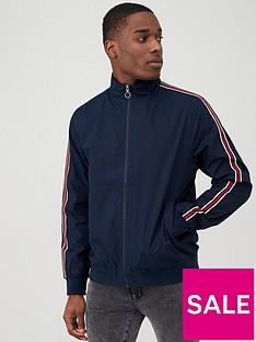 v-by-very-side-tape-cotton-harrington-jacket-navy