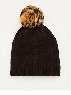 v-by-very-knitted-leopard-hat-black