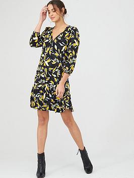 v-by-very-curved-seam-v-neck-mini-dress-floral-printnbsp