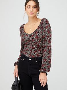 v-by-very-ruched-long-sleeve-top-multi