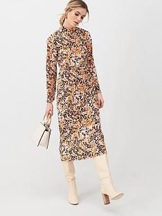 v-by-very-slash-neck-plisse-midi-dress-floral-print