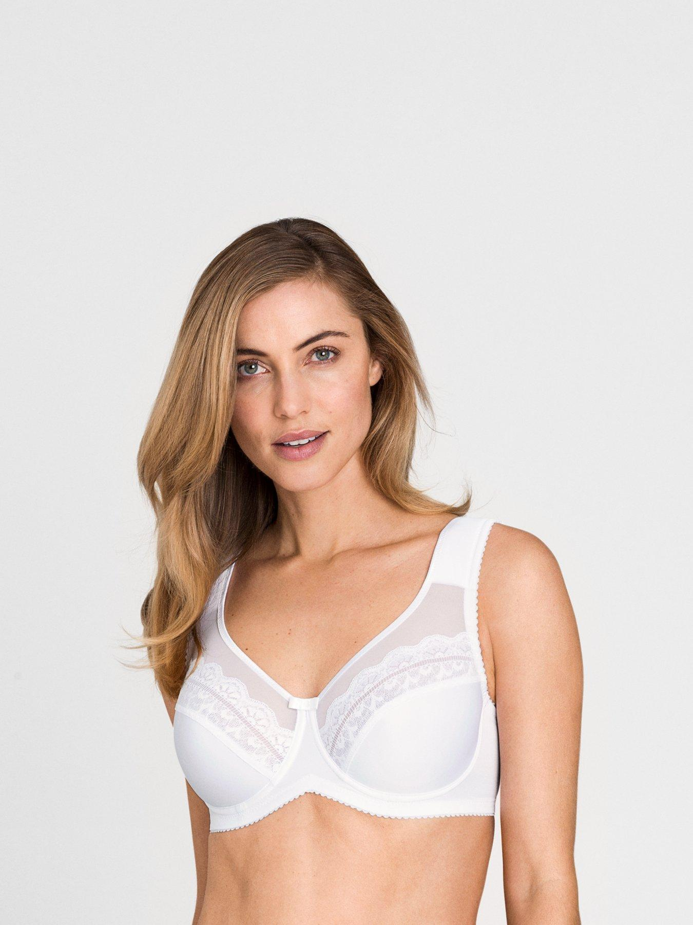 NEW Bra 50C msrp $42 SUPPORT 20/% Cotton Wicks-U-Dry WIDE STRAPS Pink CLEARANCE!