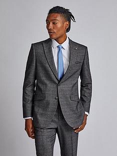 burton-menswear-london-burton-check-tailored-suit-jacket-grey