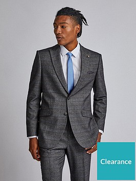 burton-menswear-london-burton-check-tailored-suit-jacket-grey