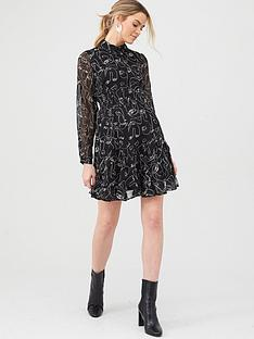 v-by-very-georgette-shirt-dress-print