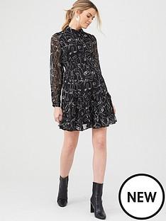 v-by-very-georgette-shirt-dress-print