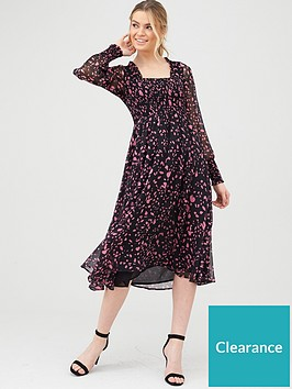 v-by-very-woven-printed-shirred-midi-dress
