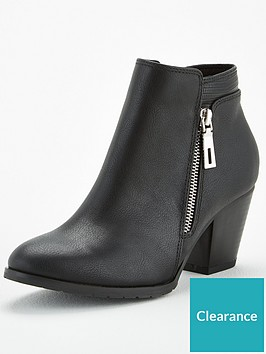 wallis-side-zip-casual-ankle-boots-black