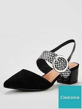 wallis-circle-buckle-slingback-court-shoes-mono
