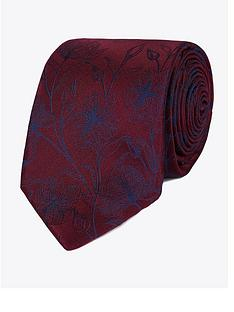 jeff-banks-jeff-banks-etched-floral-silk-tie-wine