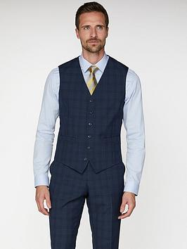 jeff-banks-check-soho-waistcoat-in-modern-regular-fit-blue