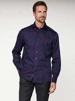 jeff-banks-floral-jacquard-tailored-fit-shirt-purple