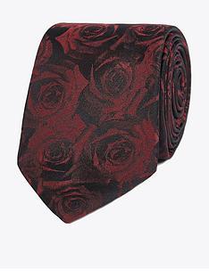 jeff-banks-jeff-banks-digital-roses-silk-tie-wine