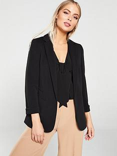wallis-ribbed-ponte-jacket-black
