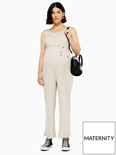 topshop-maternity-rib-slouch-jumpsuit-natural