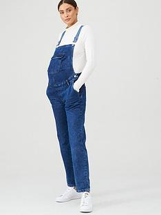 v-by-very-maternity-denim-dungaree-dark-wash