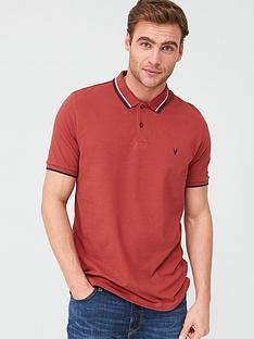 v-by-very-tipped-pique-polo-shirt-coral