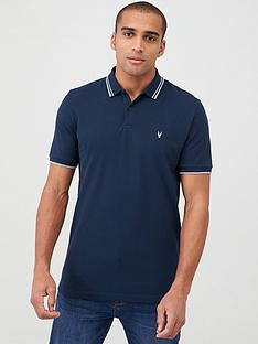 v-by-very-essentials-tipped-pique-polo-navy