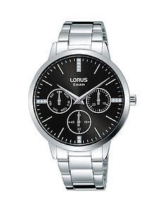 lorus-lorus-black-sunray-crystal-set-multi-dial-stainless-steel-bracelet-ladies-watch