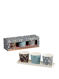 va-set-of-3-herb-pots-leicester-clover-leaf-with-tray