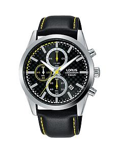 lorus-lorus-black-and-yellow-detail-chronograph-dial-black-leather-strap-mens-watch