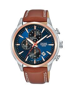 pulsar-pulsar-blue-sunray-and-rose-gold-detail-chronograph-dial-tan-leather-strap-mens-watch