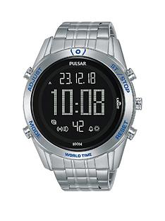 pulsar-pulsar-solar-black-and-blue-detail-digital-dial-stainless-steel-bracelet-mens-watch