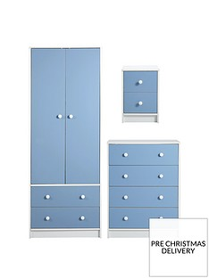 conway-3-piece-childrens-bedroom-package-2-door-2-drawer-wardrobe-4-drawer-chest-and-2-drawer-bedside-chest-blue