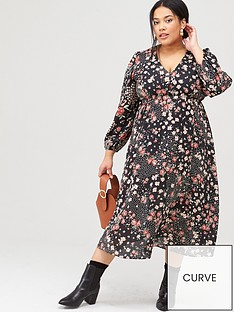 v-by-very-curve-ditsynbspprint-floral-midi-dress-floral