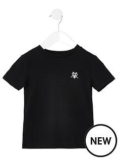river-island-mini-mini-boys-rvr-embroidered-tshirt--black