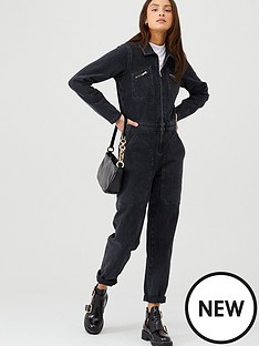 v-by-very-denim-zip-front-boilersuit-washed-black