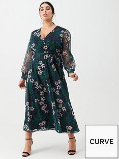 v-by-very-curve-mesh-midi-dress-animal-floral