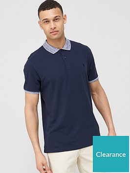 very-man-jersey-polo-with-marl-collar-navy