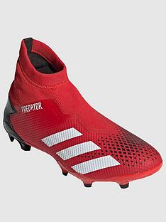adidas-predator-laceless-193-firm-ground-football-boots-redblack